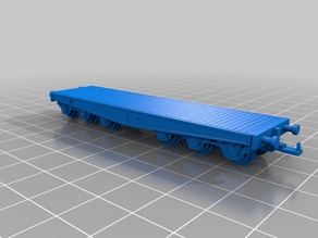 HO scale SSYMS 80t  panzer transport wagon