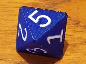 Two-color polyhedral dice