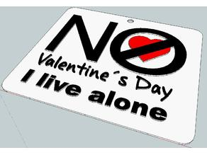 Keychain No Valentine´s Day - I live alone