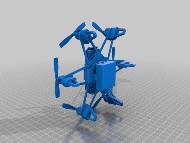3D Print Mini Selfie Hexacopter Modeling - ELF VRdrone ...