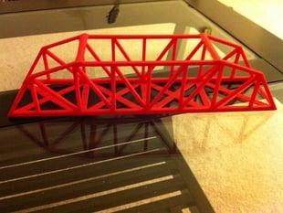 Modified Parker Style Bridge Truss