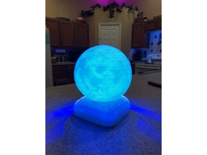 Base for Lighting a 3d printed moon or planet