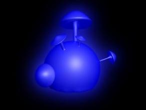Mushroom Sphere - print with glow in the dark UV Filament