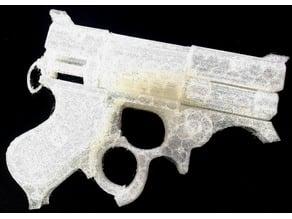 Steampunk Revolver Gun