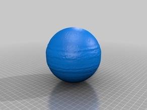 Lithophane / 3d model of Jupiter