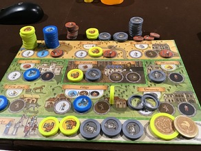 Parametric Token Capsules for Board Game Tokens - Orleans, Scythe, PnP, etc