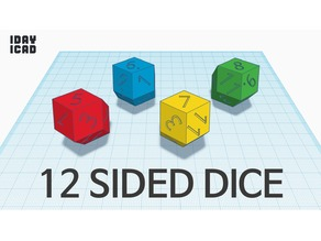 [1DAY_1CAD] 12 SIDED DICE