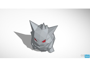 Gengar Low-poly Pokemon for DUAL extrusion