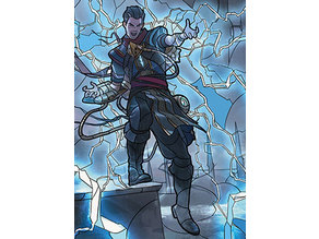 Ral, Storm Conduit - stained glass - litho
