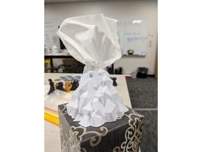 Volcano tissue box cover