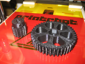 Spur Gears for Printrbot (Printed Extruder)