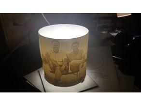 Lithophane lampshade holder