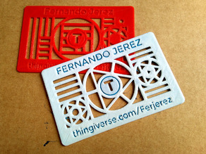 Thingiverse's custom business card
