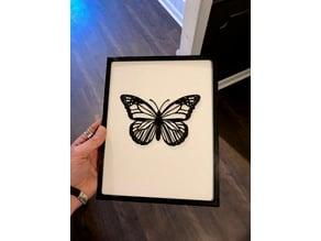 Butterfly 2D Art w/Frame
