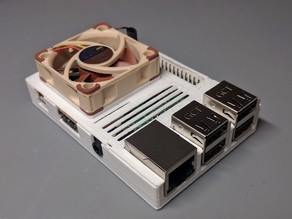Raspberry Pi 3 Slim Case w/ 40mm Fan