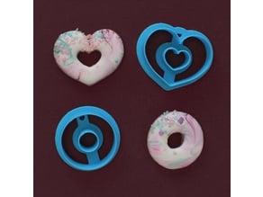 Mini donut cookie cutters