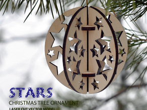 Stars. Christmas tree ball ornament