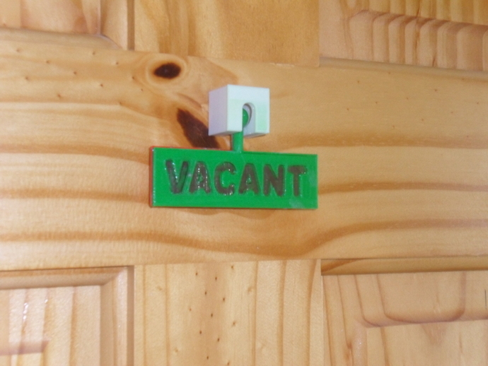 Safe Security Toilet Bathroom Indicator Bolt Door Lock Family. Bathroom Door Lock Occupied Sign   Tomthetrader com