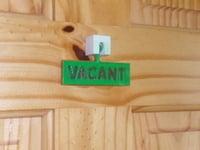 Bathroom Sign Vacant bathroom occupied / vacant signjamesarm97 - thingiverse