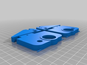 My Customized Prusa i3 Pro B Z axis top brackets for 8mm acrylframe