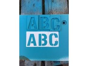 Alphabet Stencil Gunplay Font