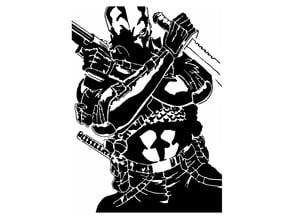 Deathstroke stencil 2