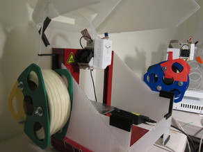 Reusable spool for filament and its holder for UP! PLUS2