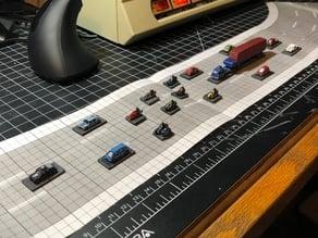 Classic Scale Car Wars cars