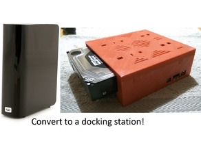 WD My Book -> Dock Conversion