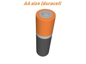 Baterry AA size ( Duracell colors )
