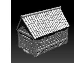 Small medieval house V2, Kickstarter teaser model 3Dlayeredscenery