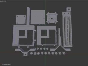 Raspberry Pi camera module afocal telescope mount