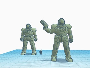 TinkerCAD Power Armored Trooper