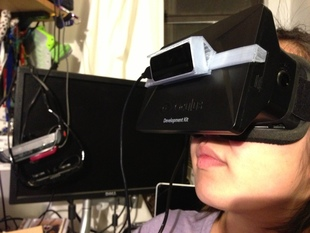 LeapMotion mount for Oculus RIFT