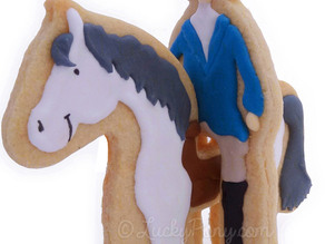 cookie cutter horse and rider 3D
