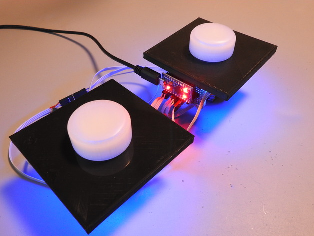 Illuminated Arcade Spinner by Tinkering_On_Steroids