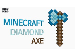 [1DAY_1CAD] MINECRAFT DIAMOND AXE