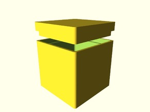 OpenSCAD Minkowski Box