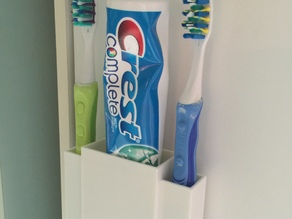 Parametric Toothpaste and Toothbrush holder