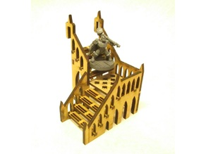 L-shaped staircase 8x8x8 cm for 3mm laser cut MDF