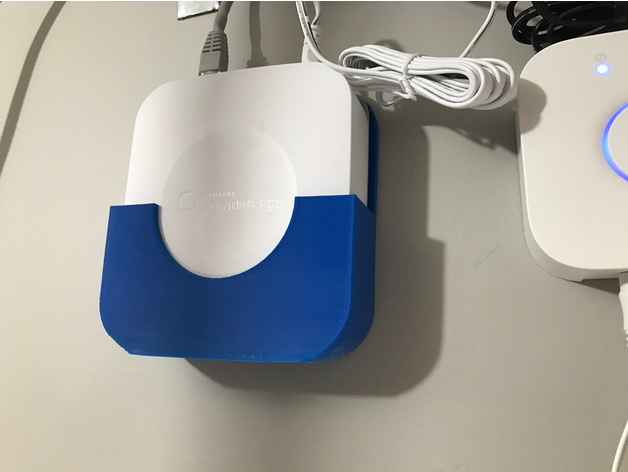 Smartthings Hub Gen2 Wall Mount By Cmar Thingiverse