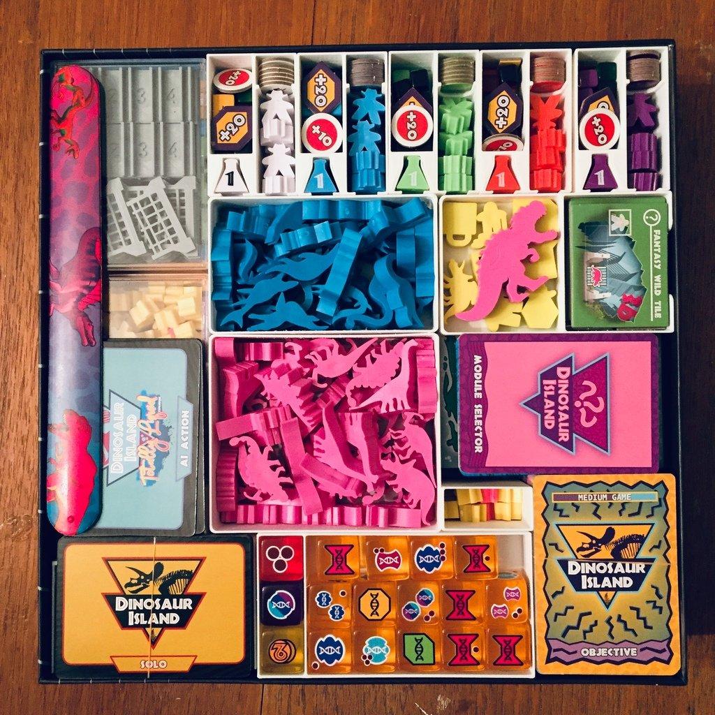 Board Game Insert for Dinosaur Island X-treme Edition