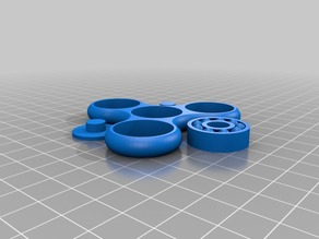 Fidget spinner with bearing ready to print