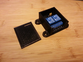 Mountable case with lid for 2 channel relay board