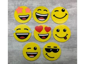 Coasters Smiley(multi-material)