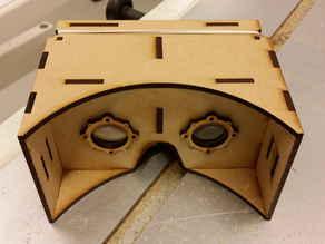 Lasercut Google Cardboard 3D VR glasses
