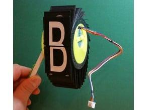 Dead simple split flap display