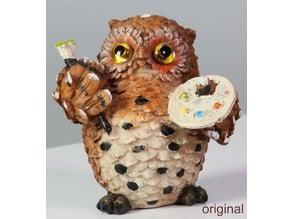 Owl Artist V2 3D Scan