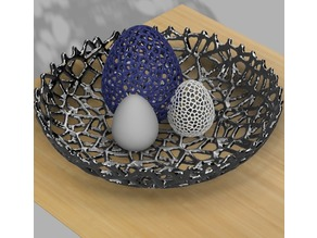 Voronoi Easter egg nest