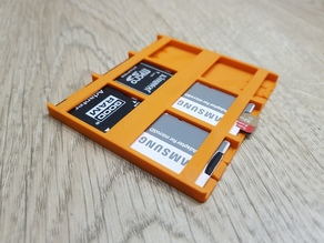 SD Card Organiser - 6 slots - no support